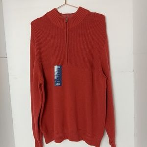 IZOD Men's sweater Large 3/4 Zip NEW